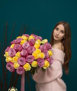 Букет из 41 эквадорской розы